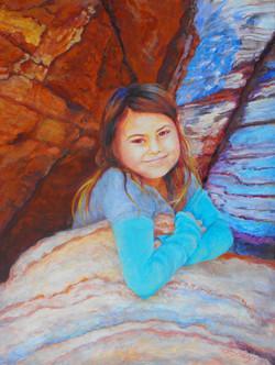 Girl in Rocks