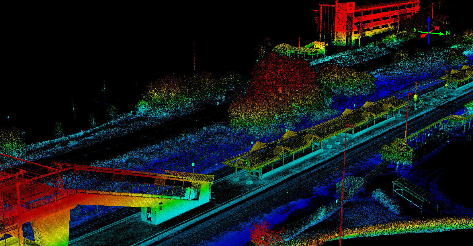 Whitby-Brock Station LiDAR Perspective 2