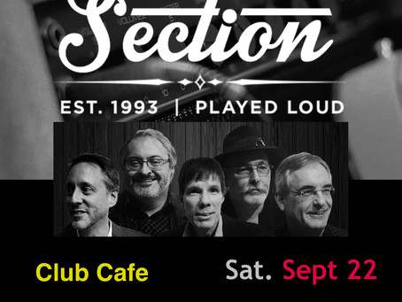 Club Cafe -- Saturday 9/22 at 7 PM!
