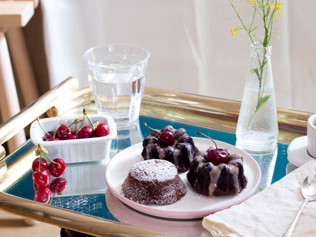 Chocolate Almond Cherry Mini Bundt Cakes (Gluten Free) for Mother's Day.