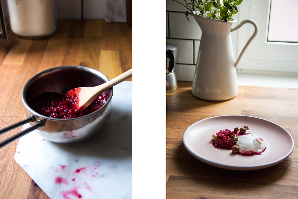 Panda Bakes beetroot berry compote breakfast