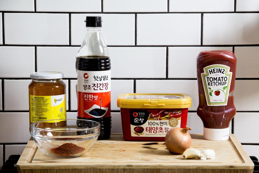 Korean fried chicken ingredients