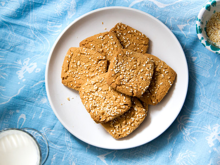 Perfect Peanut Butter Cookies with  Salted Peanuts and Sesame