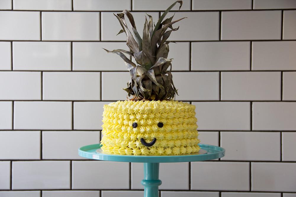 Panda Bakes Pineapple orange mousse tropical cake