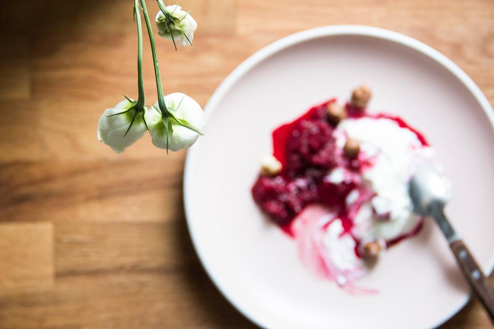 Panda Bakes beetroot berry compote breakfast