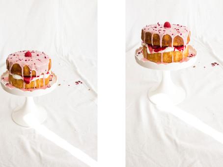 Rosewater, Raspberry + The Best Vanilla Sponge