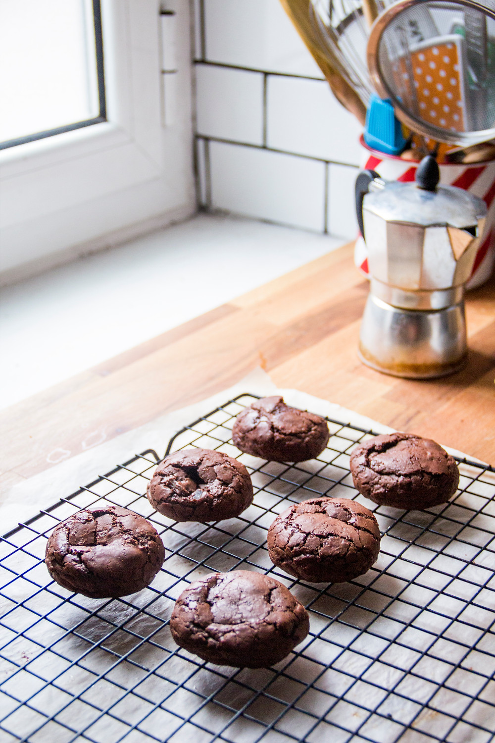 chocolate ginger chewy cookies