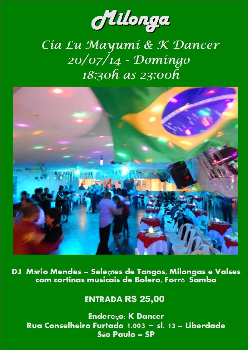 Milonga em  20-07-2014