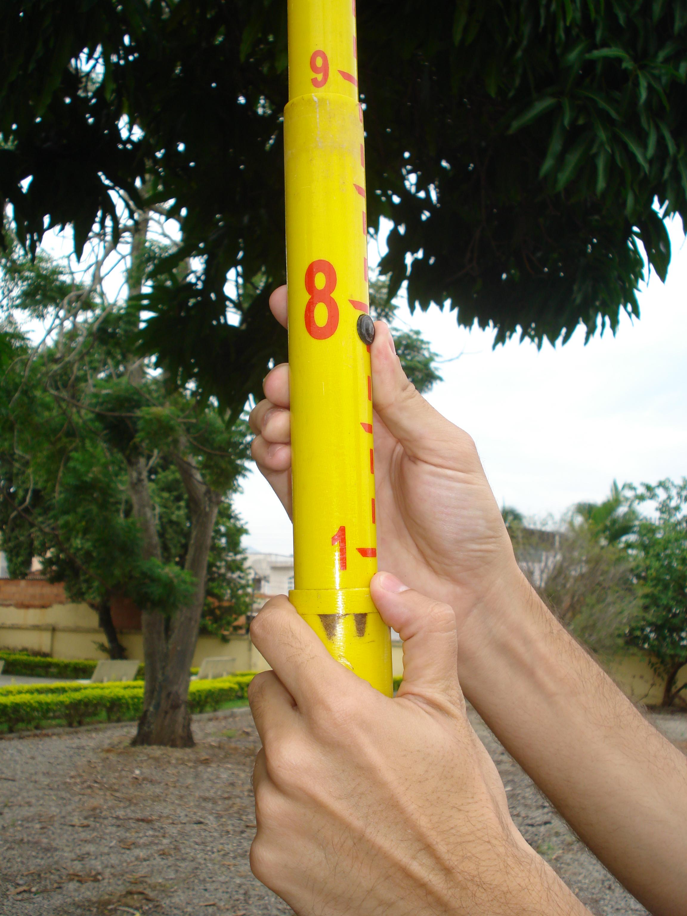 Medição com régua telescópica