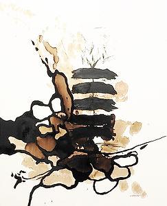 La naissance d'un arbre  Bitume-Mixte  1