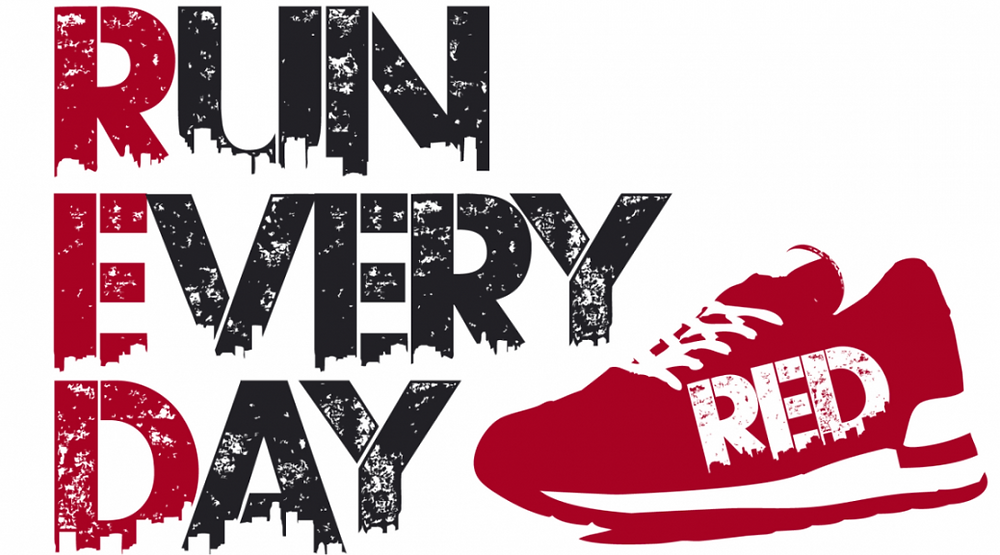 Logo for the RED Run Every Day challenge
