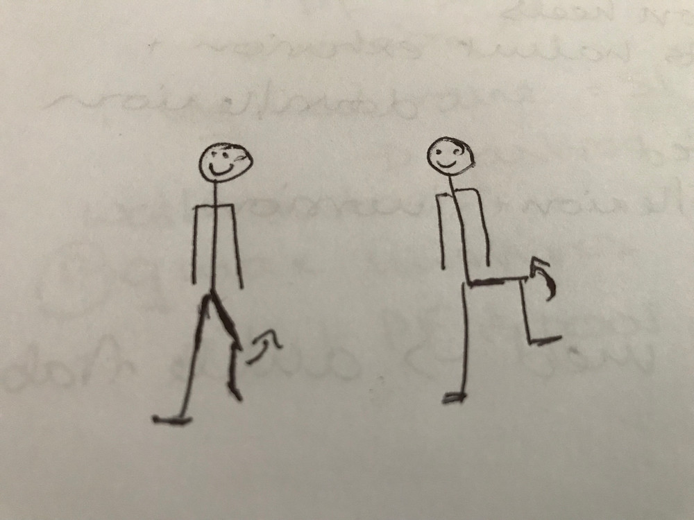 stick person drawing of hip circles