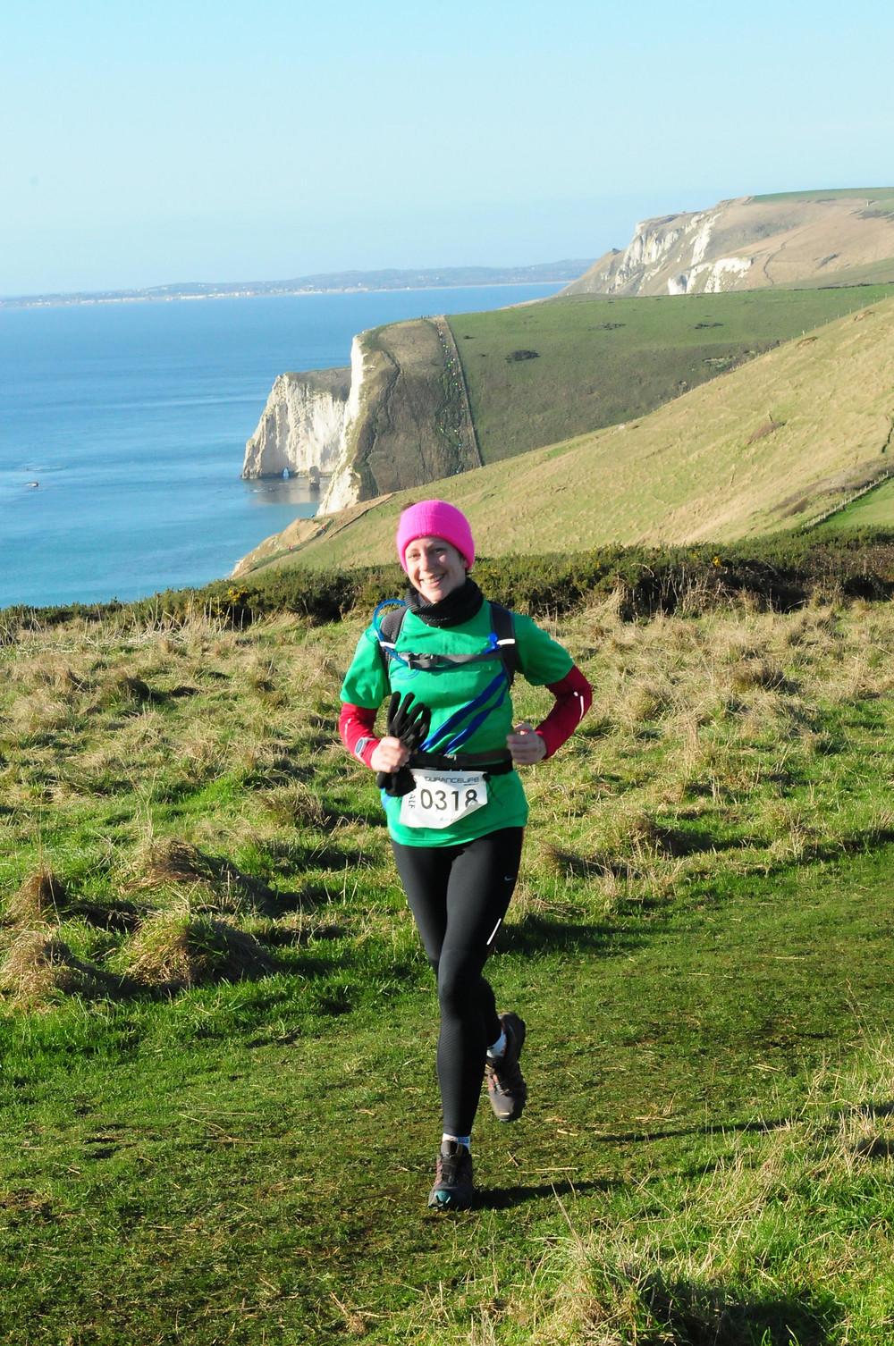 Runner racing an ultra