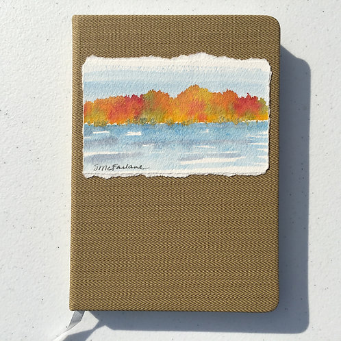 Hand-painted Journal, Autumn Landscape