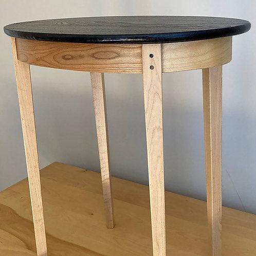 Oak and Cherry Bedside Table