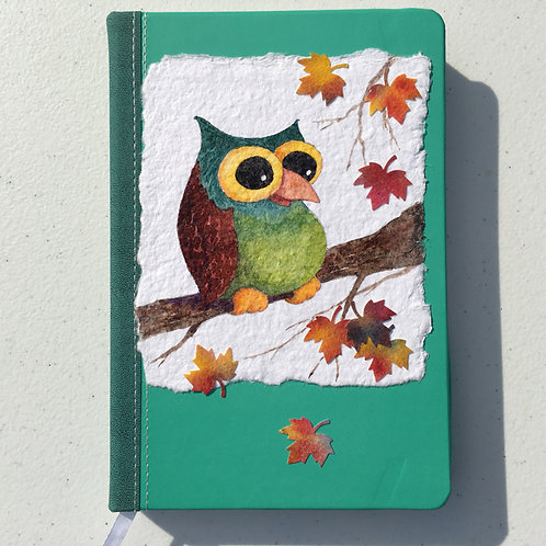 Hand-painted Journal, Owl