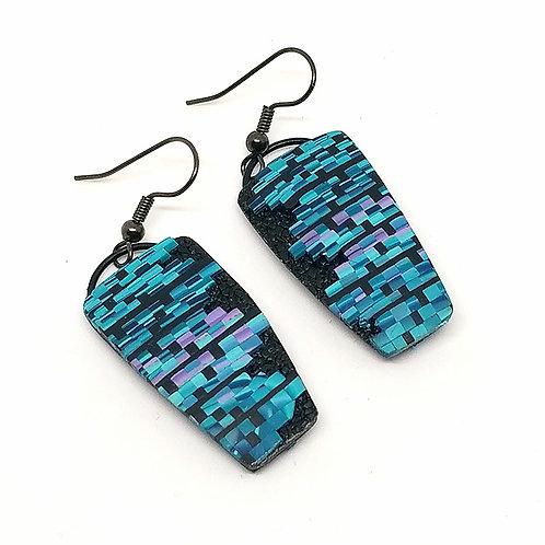 Blue Bargello Earrings