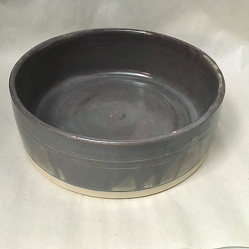 Large dog food bowl