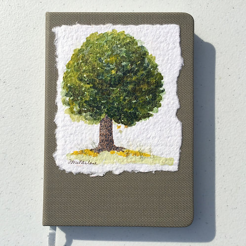 Hand-painted Journal, Green Tree