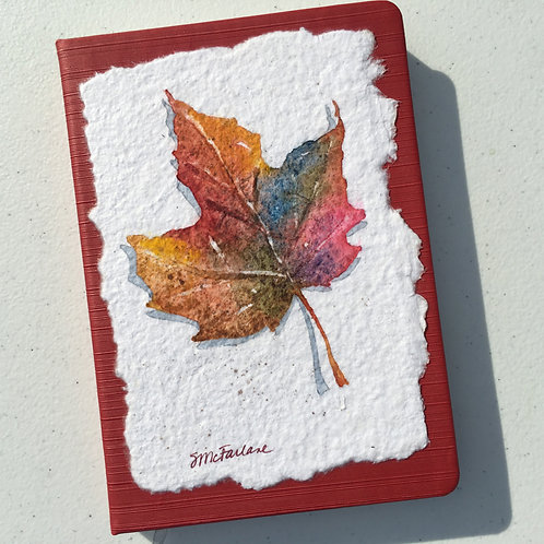 Hand-painted Journal, Leaf