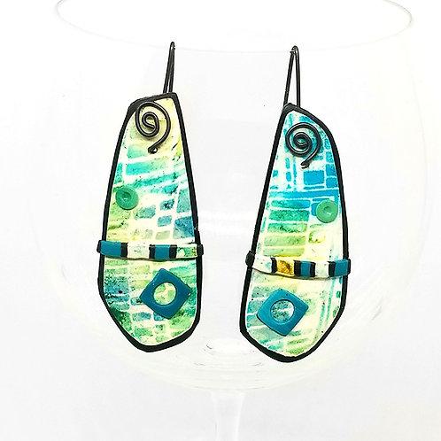 Faux Batik Earrings
