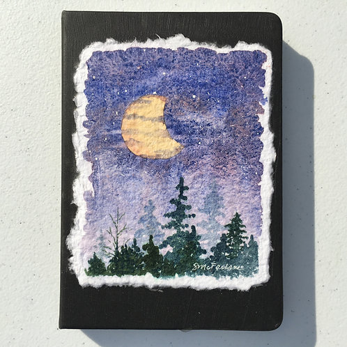 Hand-painted Journal, Moonlight