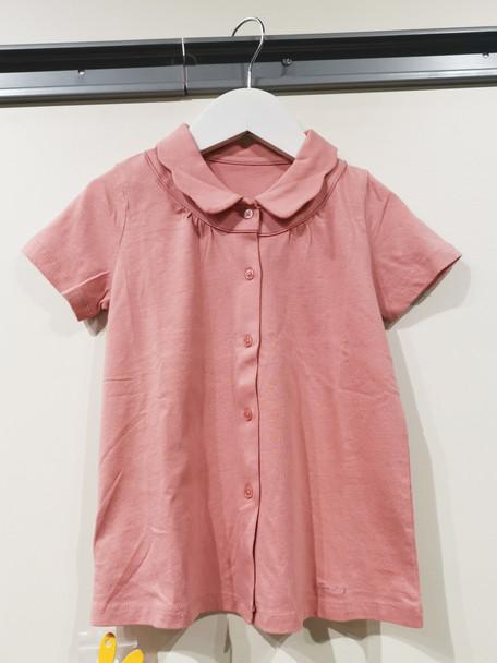 Girls Cotton Collar T-shirt