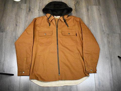 Tough Duck Sherpa Lined Duck Jac-Shirt WS03 Brown