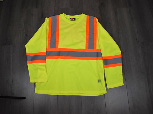 Work King L_S Safety T-Shirt ST101 Green