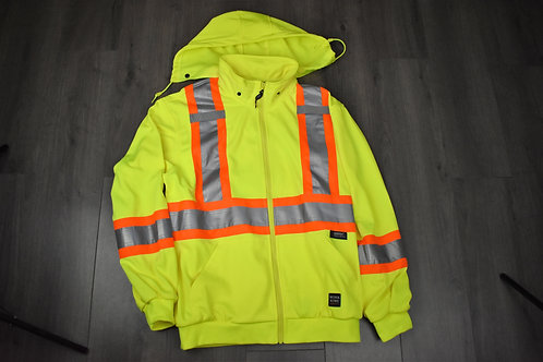 Work King Unlined Safety Hoodie S494 Green