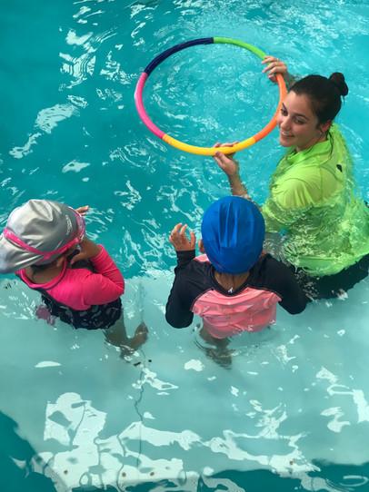 kids having fun swimming