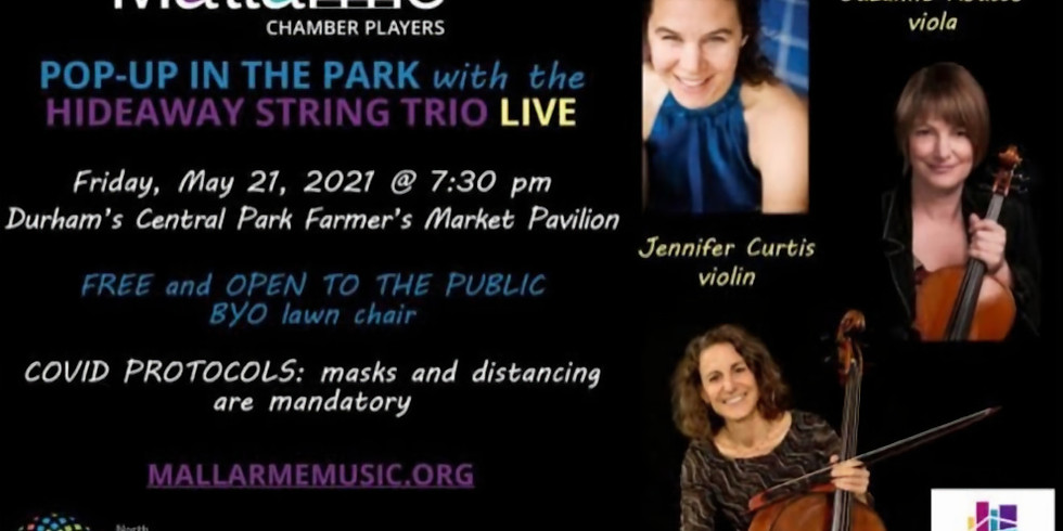 String Trios in Durham NC's Central Park Pavillion