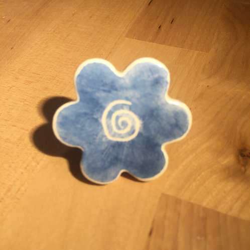 Bague Fleur Bleue