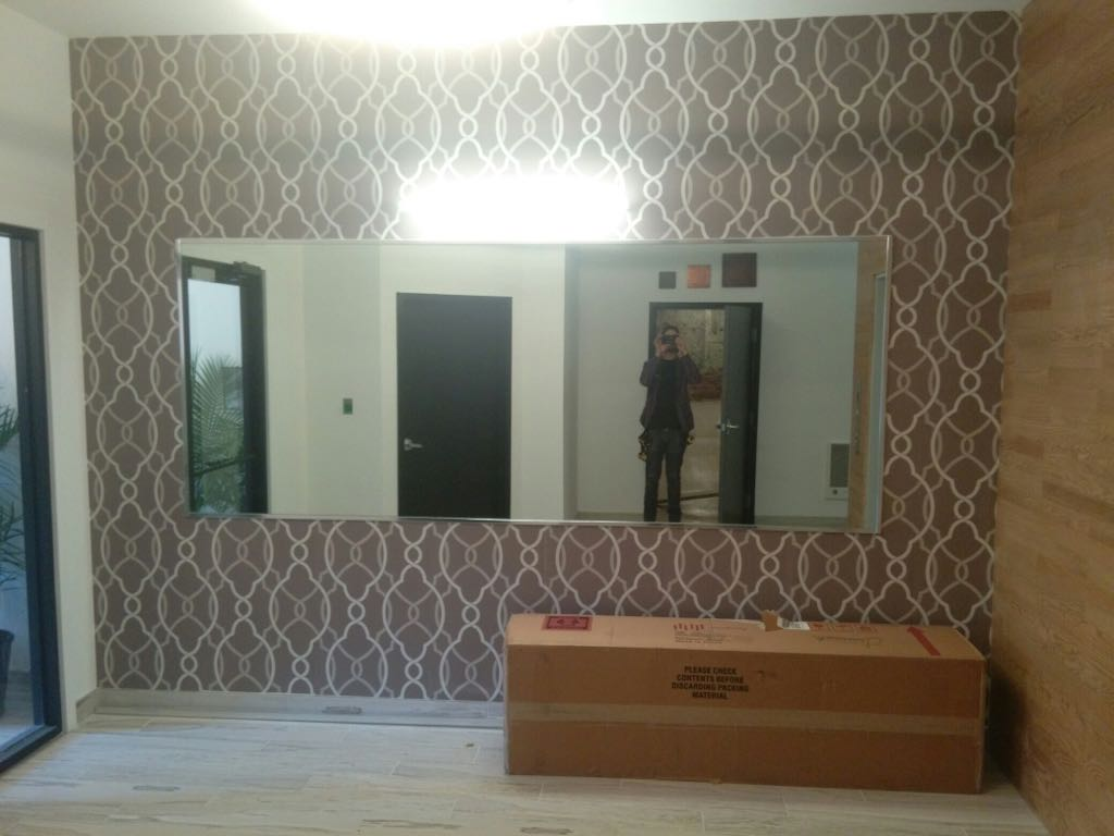 Mirror Wall Install
