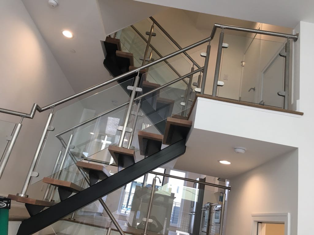 Glass Stairwell Railings