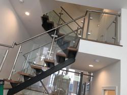 Glass Stairwell Railings