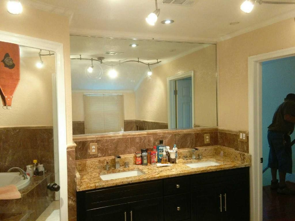 Bathroom Mirror Install