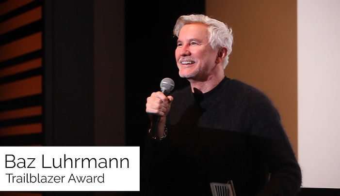 Baz Luhrmann accepts the Trailblazer Award