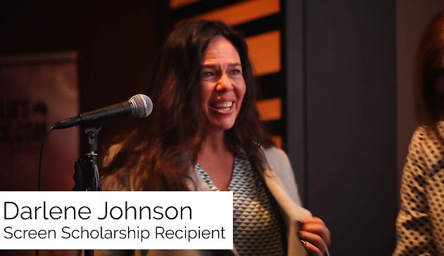Darlene Johnson Accepts the Screen Scholarship