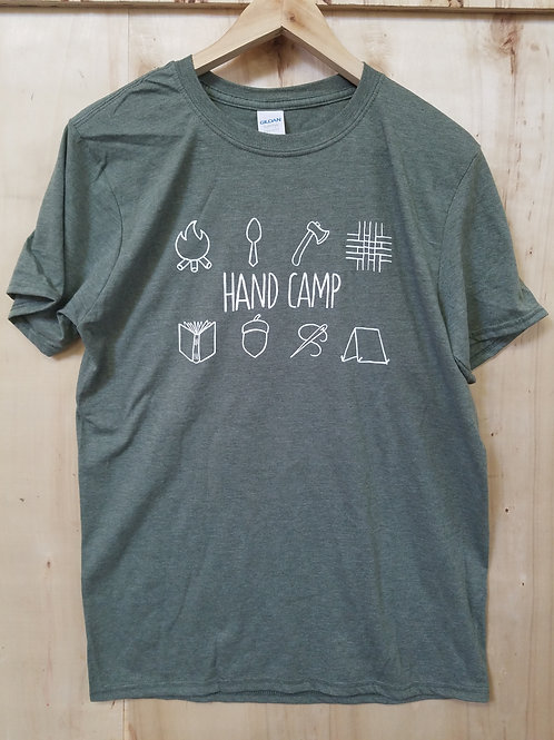 Olive Heather Hand Camp T-Shirt
