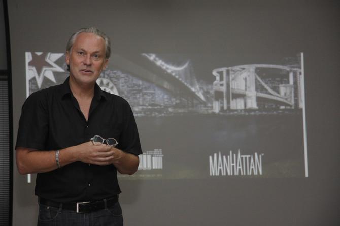 Evert deGraeve lecture at FAD - UVT University in Timisoara, Romania