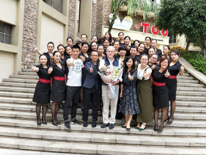 Evert deGraeve is teaching at Derier college in Chengdu, China.