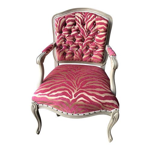Pink Zebra Vintage Chair
