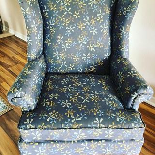Vintage wingchair reupholstery