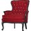 Thumbnail: Red Velvet Antique Chair with Crystal Buttons