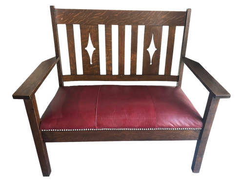 Leather Antique Settee