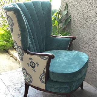 Trendy colors, antique chair