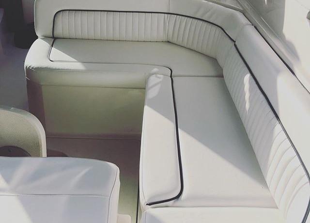Boat marine upholstery by #familiauphols