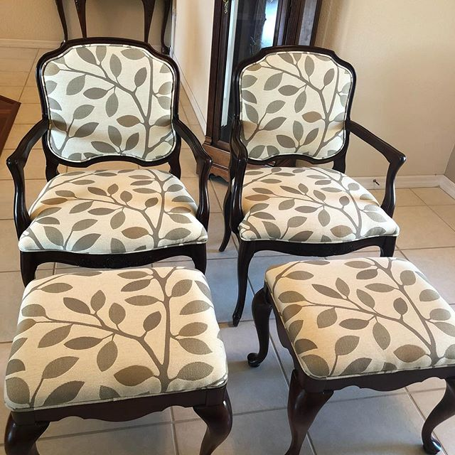 Reupholstered Antique Chairs