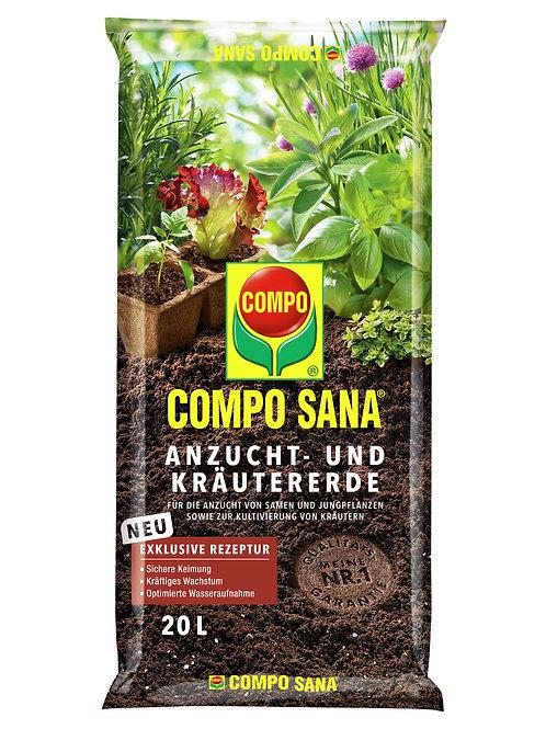 COMPO Sana Anzucht- und Kräutererde 10l